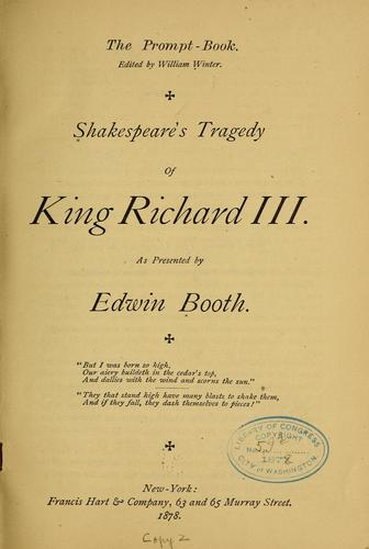 Shakespeare's Tragedy of King Richard III by William Shakespeare