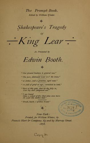 Shakespeare's tragedy of King Lear by William Shakespeare