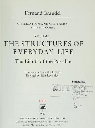 The structures of everyday life