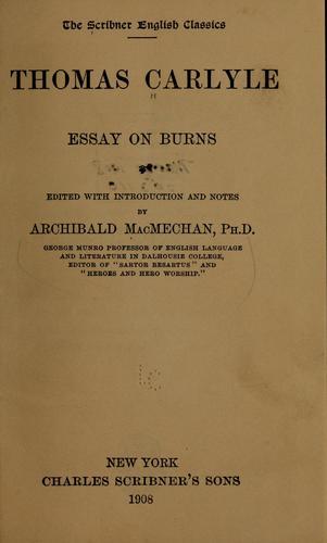 Download Essay on Burns