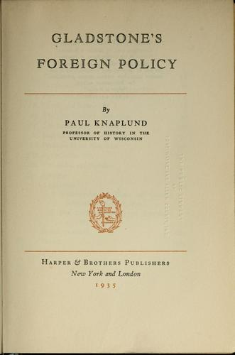 Gladstone's foreign policy.