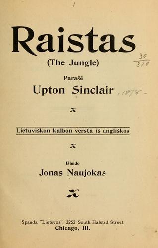 Download Raistas (The jungle) parašē Upton Sinclair