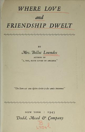 Download Where love and friendship dwelt