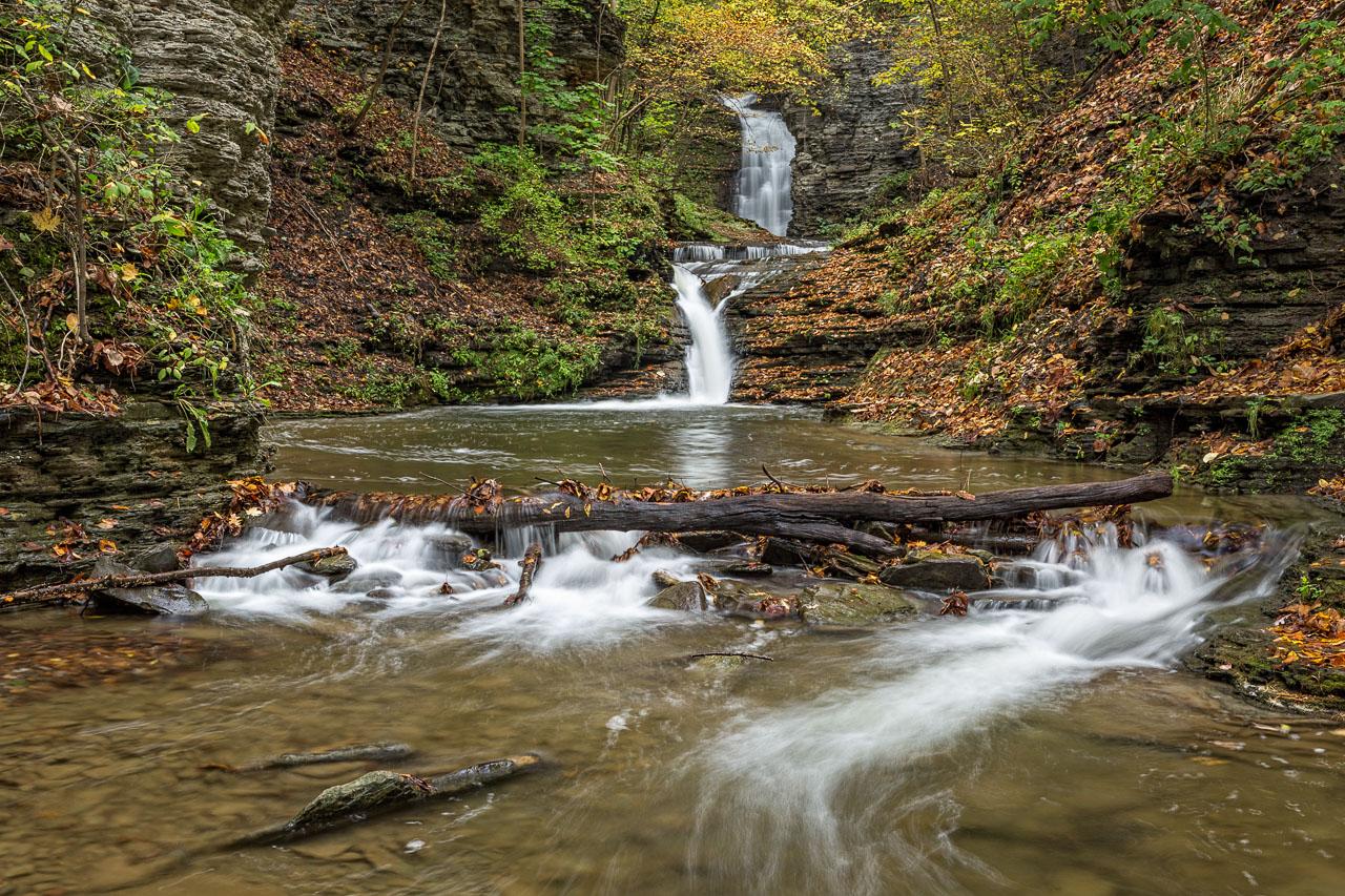 Deckertown Falls at Montour flows after rainfall (photo)