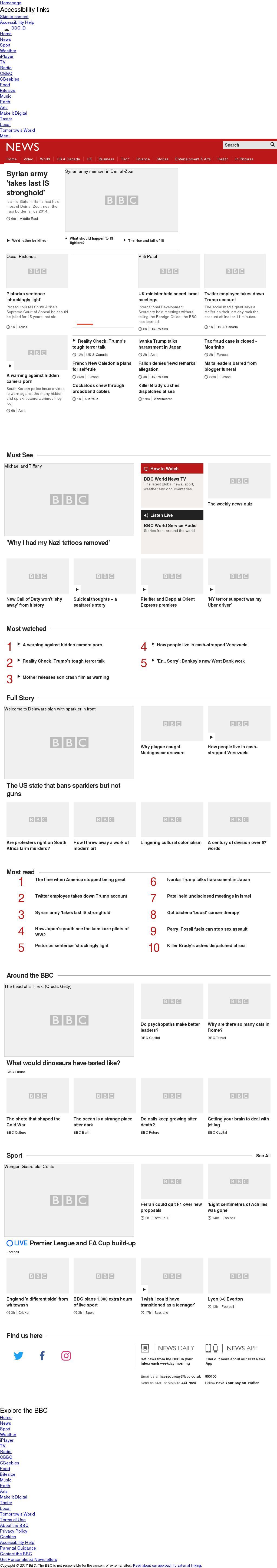 BBC at Friday Nov. 3, 2017, noon UTC