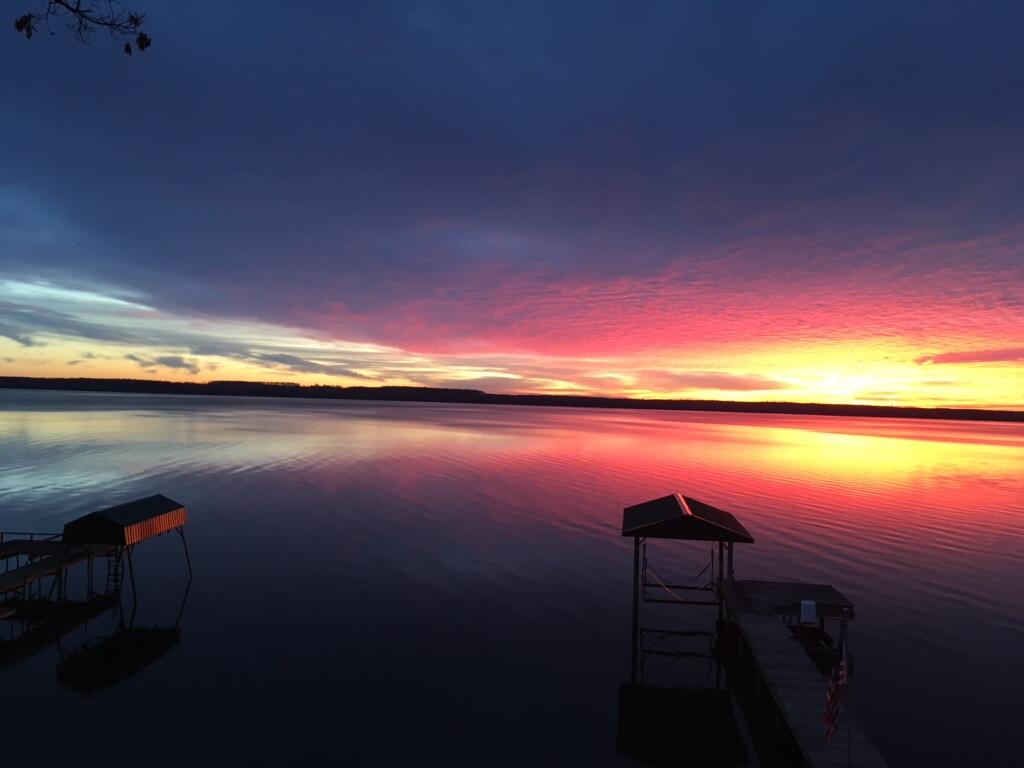 Sunrise over White's Point (photo)