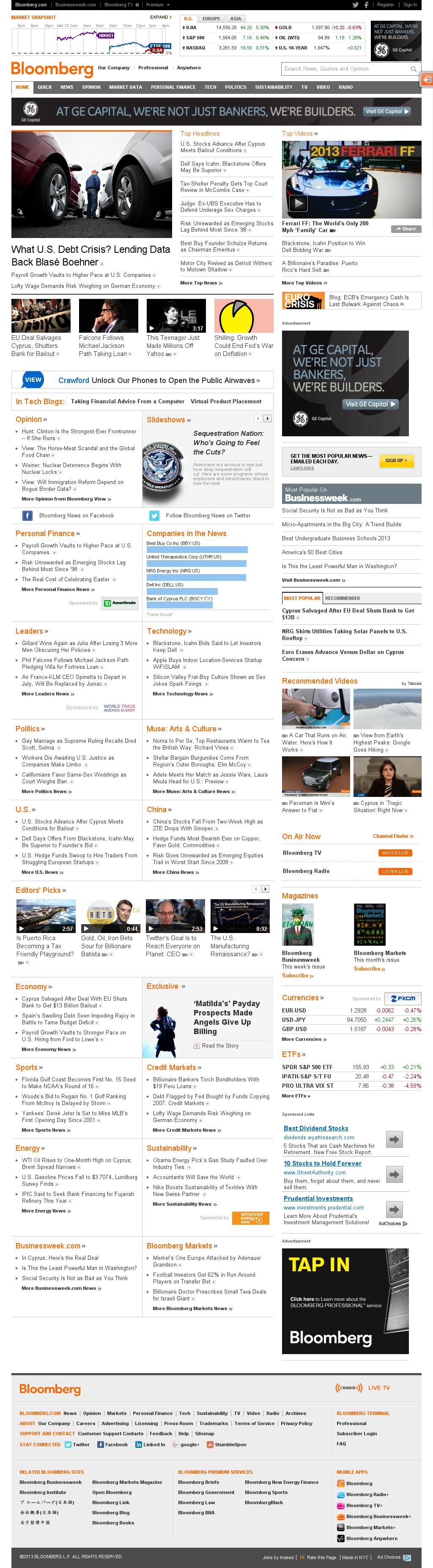 Bloomberg at Monday March 25, 2013, 2:10 p.m. UTC