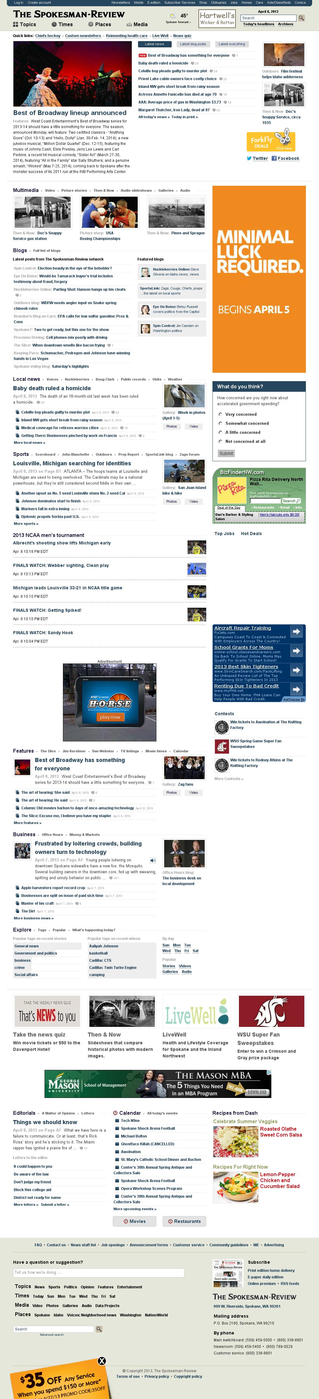 The (Spokane) Spokesman-Review at Tuesday April 9, 2013, 2:22 a.m. UTC