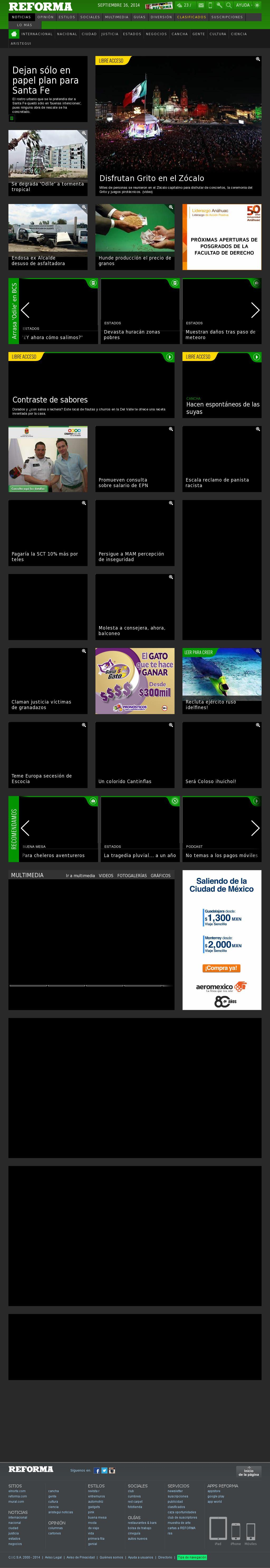 Reforma.com at Tuesday Sept. 16, 2014, 12:13 p.m. UTC