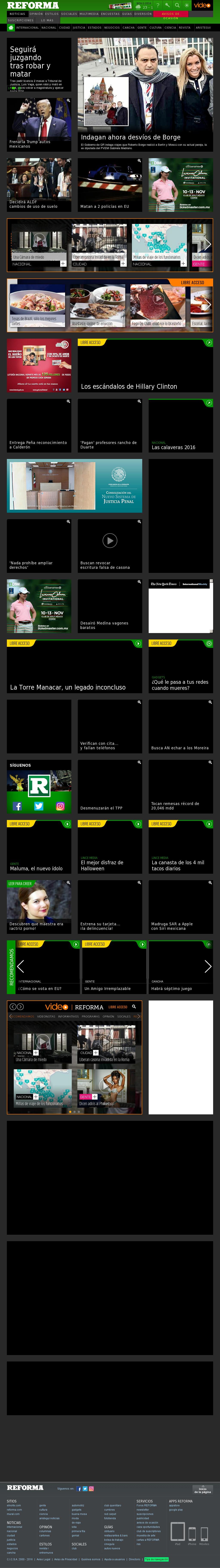 Reforma.com at Wednesday Nov. 2, 2016, 2:14 p.m. UTC