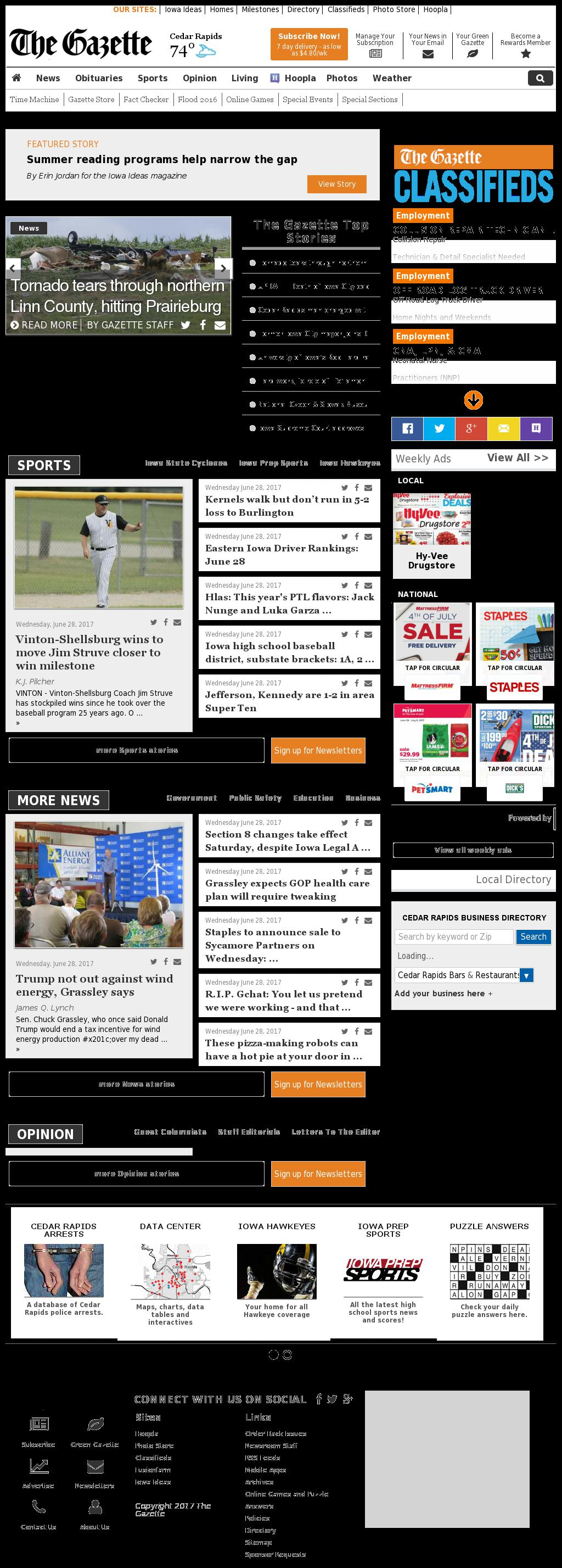 The (Cedar Rapids) Gazette at Thursday June 29, 2017, 6:06 a.m. UTC