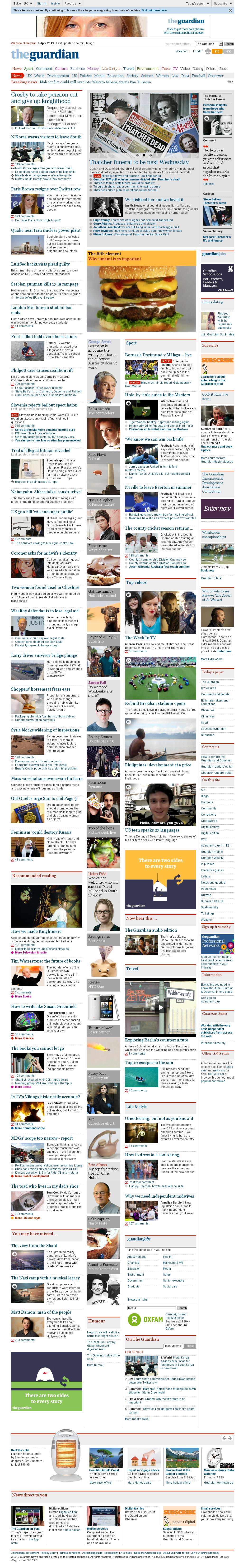 The Guardian at Tuesday April 9, 2013, 6:09 p.m. UTC