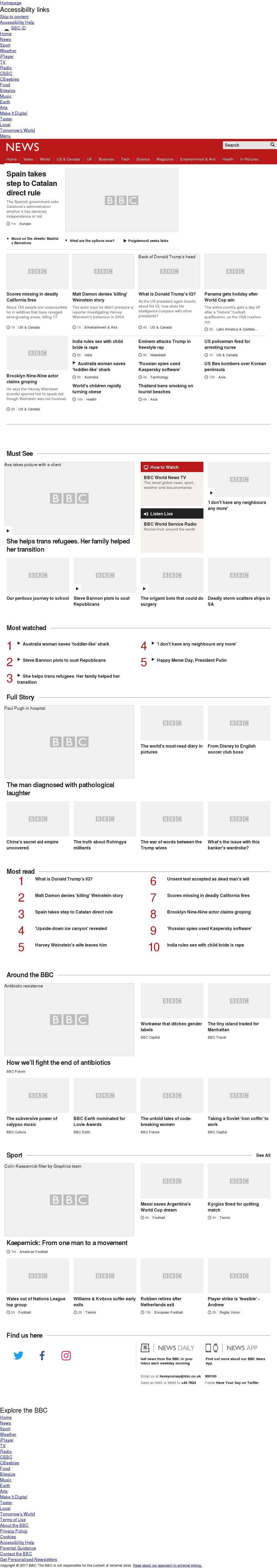 BBC at Wednesday Oct. 11, 2017, 2 p.m. UTC