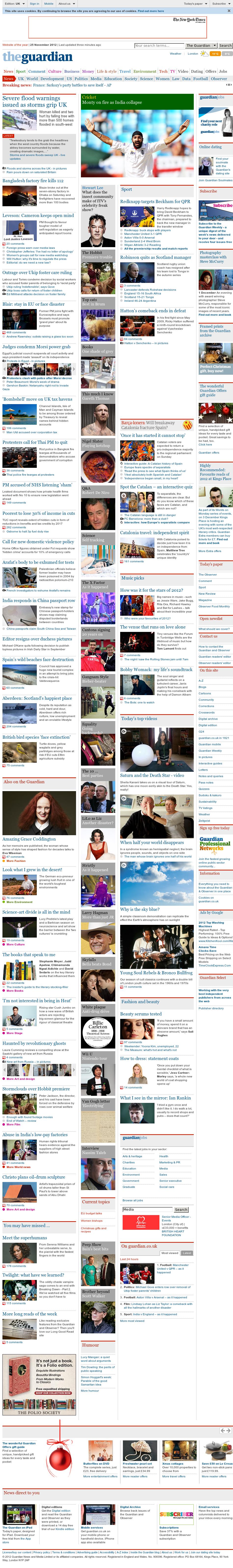 The Guardian at Sunday Nov. 25, 2012, 12:12 p.m. UTC