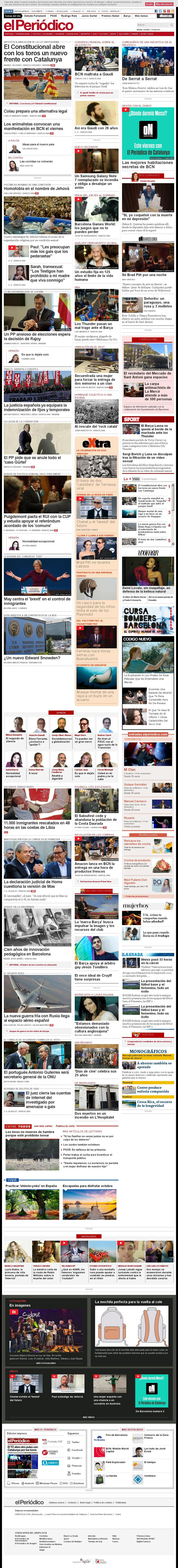 El Periodico at Thursday Oct. 6, 2016, 4:14 a.m. UTC