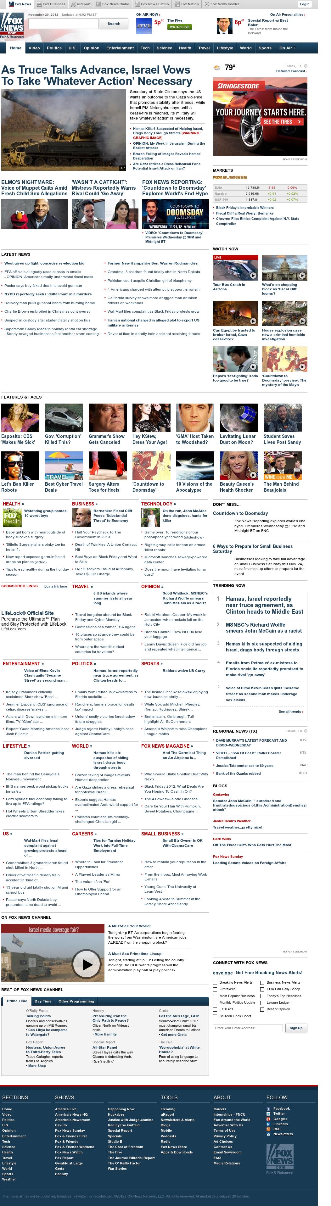 Fox News at Tuesday Nov. 20, 2012, 11:11 p.m. UTC
