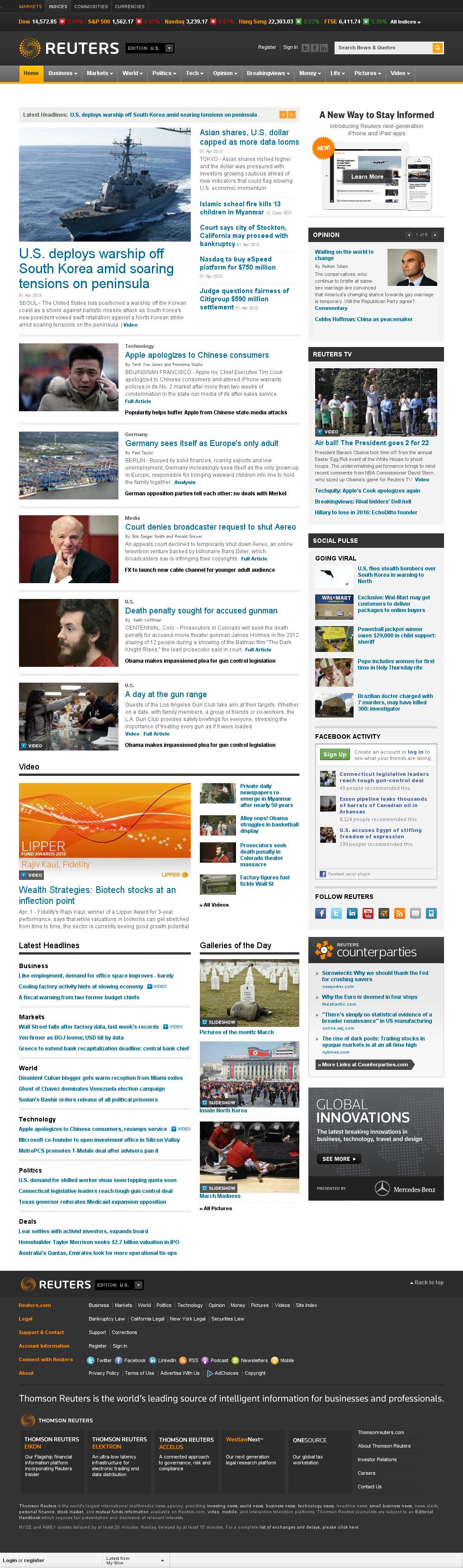 Reuters at Tuesday April 2, 2013, 4:21 a.m. UTC