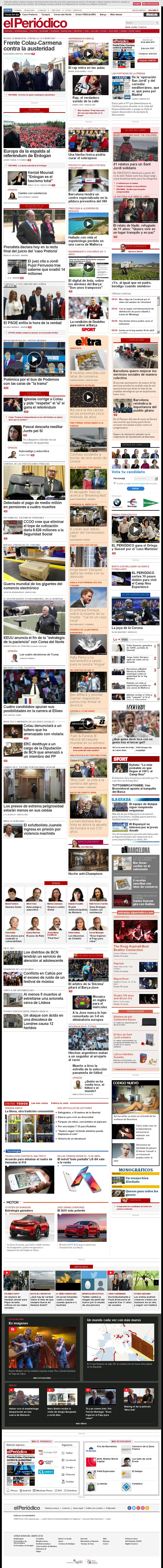 El Periodico at Tuesday April 18, 2017, 7:13 a.m. UTC