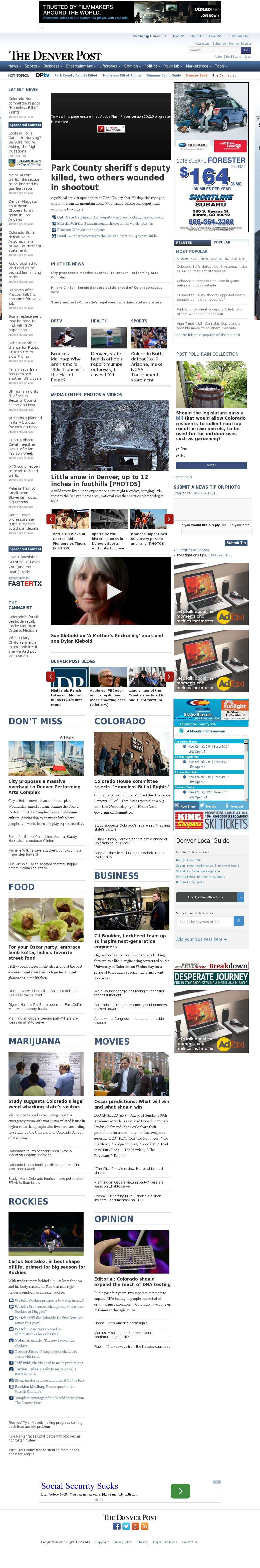 Denver Post at Thursday Feb. 25, 2016, 9:03 a.m. UTC
