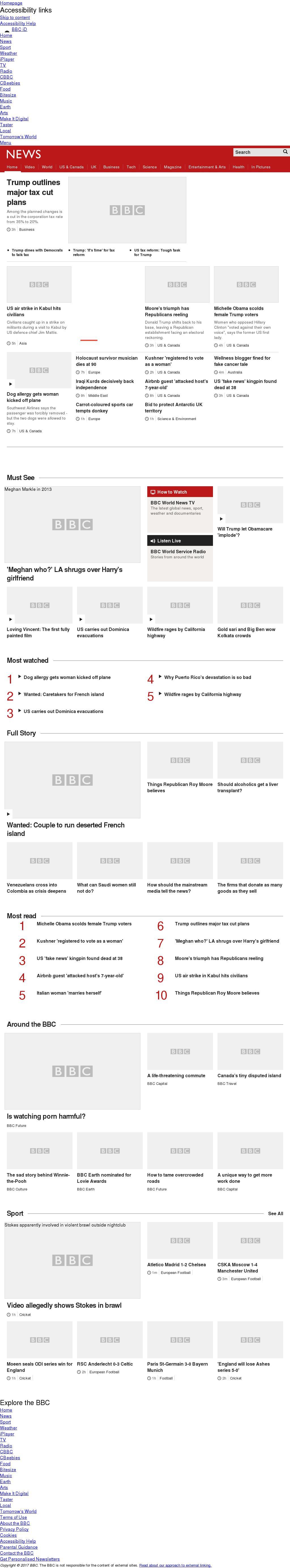BBC at Thursday Sept. 28, 2017, 1 a.m. UTC