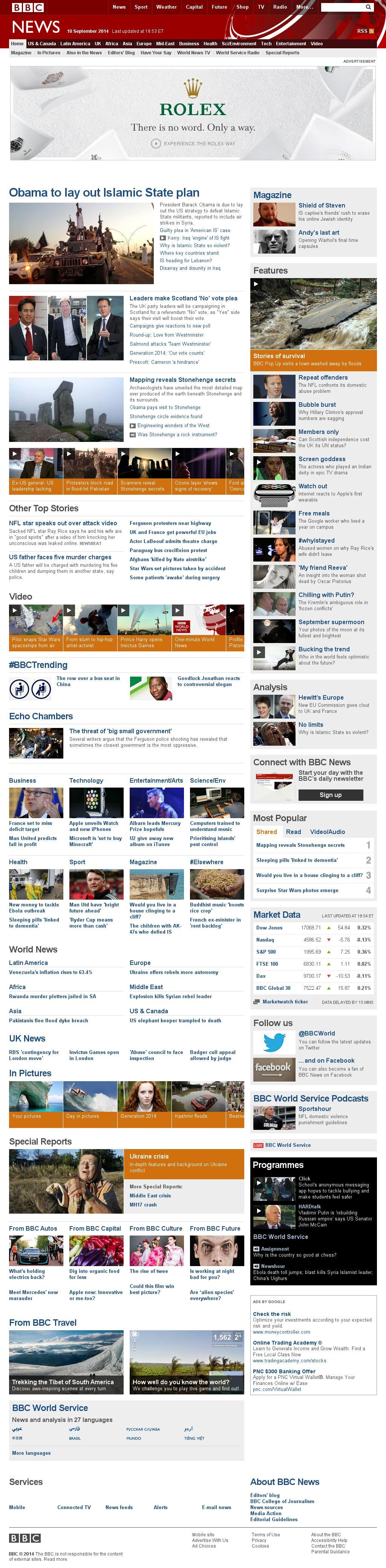 BBC at Wednesday Sept. 10, 2014, 11:01 p.m. UTC