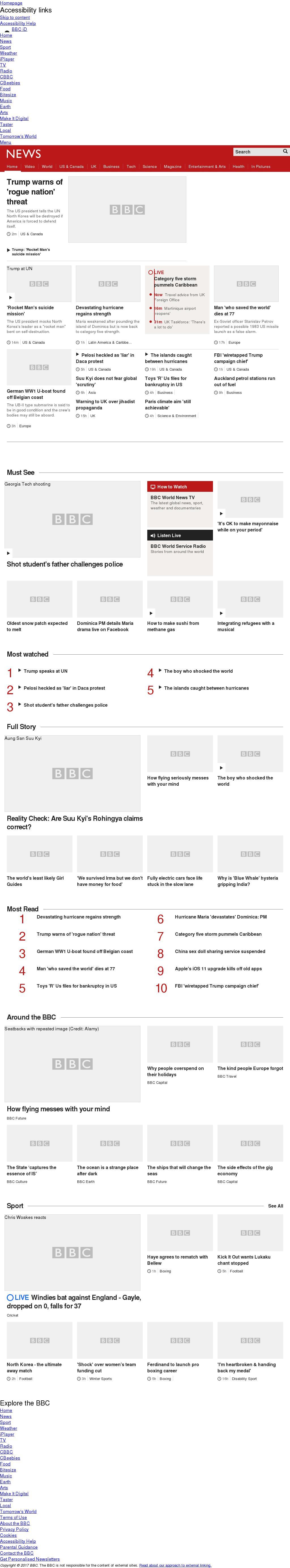 BBC at Tuesday Sept. 19, 2017, 3:01 p.m. UTC
