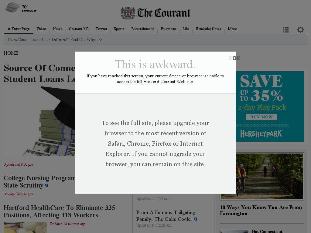 Hartford Courant at Wednesday June 17, 2015, 11:12 p.m. UTC