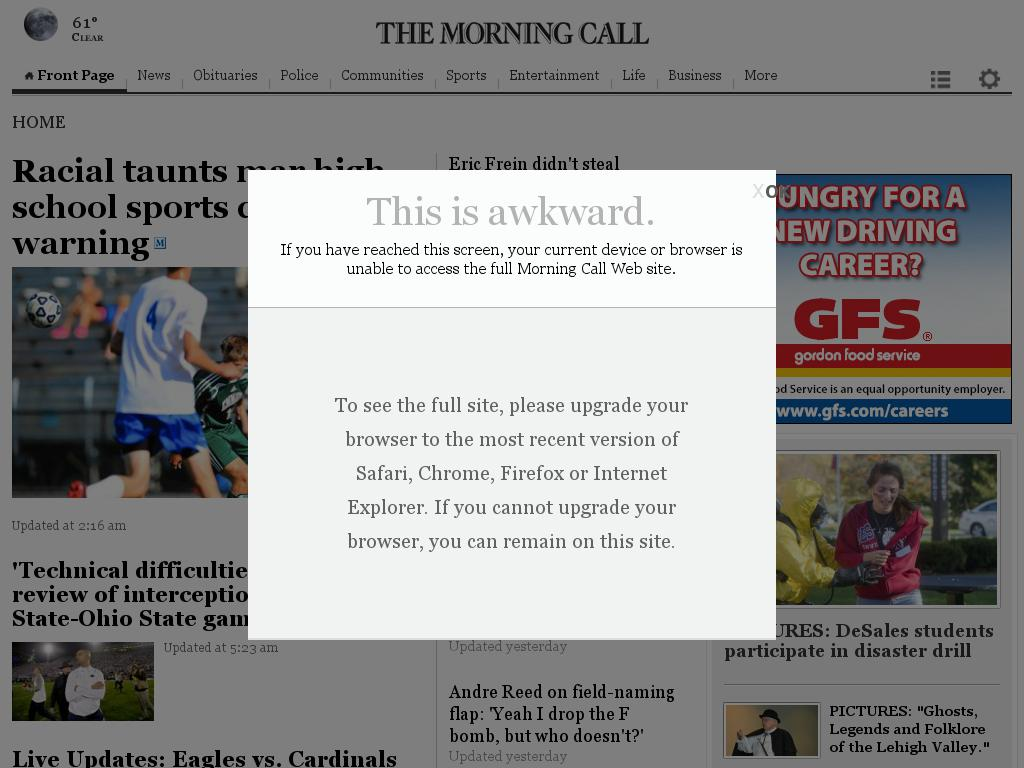 The (Allentown) Morning Call at Sunday Oct. 26, 2014, 9:10 p.m. UTC