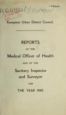 Cover of: [Report 1945] by Kempston (England). Urban District Council