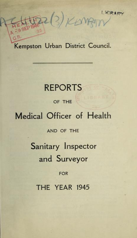[Report 1945] by Kempston (England). Urban District Council