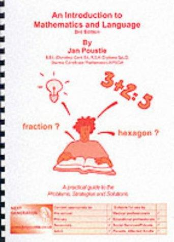 An Introduction to Mathematics and Language (Skills) by Jan Poustie