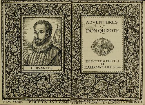 Adventures of Don Quixote by Miguel de Cervantes Saavedra