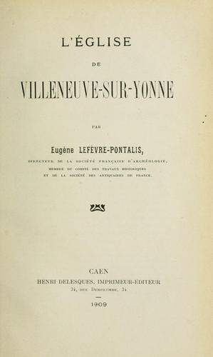 Collected papers by Eugène Lefèvre-Pontalis
