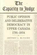 The capacity to judge by Jeffrey L. McNairn