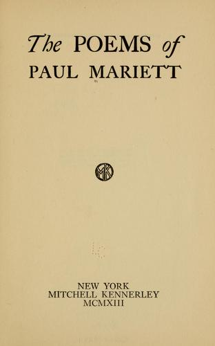 The poems of Paul Mariett by Paul Mariett